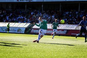 Marcus Astvald hittade nätet redan efter två minuter mot Halmstad.