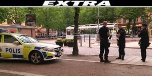 Polisen har spärrat av Järntorget efter att ett misstänkt våldsbrott ska ha skett där under söndagskvällen.