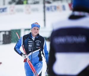 Foto: Johan Mattsson. Jackline Lockner tog sin andra raka seger i China Tour de Ski.