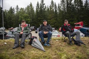 Tre generationer Häggström hade tagit sig från Norrmesunda till Klingre. Från vänster, Robin, Christer och Åke.