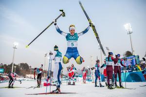 OS-guld skiathlon 2018. Bild: Joel Marklund/Bildbyrån.