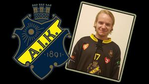 22-årige Emil Juhlén var en av många värvningar AIK presenterade på onsdagen. Bild: AIK Bandy
