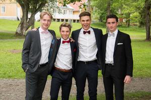 Samuel Vanberg, Marcus Sillén, Joakim Lyckman och Simon Ericsson.