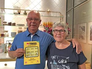 Ulf Tvärne vann 500 000 kronor, när han tillsammans med sin fru Birgitta gästade Nyhetsmorgon i TV4.