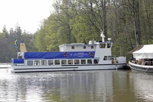 Gustaf Lagerbjelke börjar snart med årets passagerartrafik. Kanalkryssningar blir det som vanligt under sommarmånaderna.