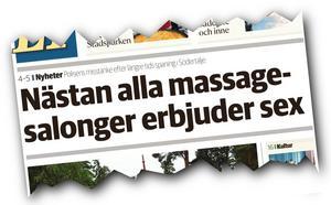 Rubriken i LT den 26 juni i år fick yrkesmassören Sandra Säll att reagera.