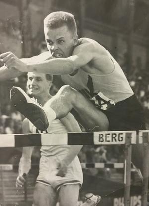 Ove på Stockholms stadion  1961.                                                          Foto: VLT:s arkiv