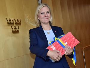 Det svenska skattesystemet tar ut för höga jobbskatter i förhållande till andra skattebaser. Finansminister Magdalena Andersson (S) borde tänka om. Foto: Jonas Ekströmer