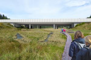 Vid Rudans naturreservat planerar man också att bygga en passage för Sörmlandsleden. Bild: Trafikverket