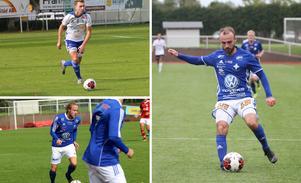 Tillbaka i IFK Falköping FF inför säsongen 2021 är Filip Garmenius (överst till vänster), Brian Andreasen (nederst till vänster) och Fisnik Menxhiqi (till höger).