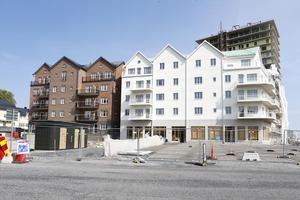 I dag, augusti 2018, är inte mycket sig likt i hamnen. Det första bostadshuset, Hamnhus 1, står redo för de första hyresgästerna som flyttar in från och med den 22 augusti.
