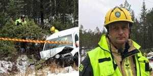 Daniel Berg, styrkeledare, säger att olyckan hade kunnat sluta betydligt värre.