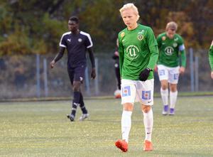 Simon Karlsson är en av tre spelare från Motala AIF som provspelar med Jönköpings Södra i U21-matchen mot Falkenberg.