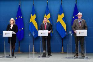 Bild från tidigare pressträff. Foto: Jonas Ekströmer / TT