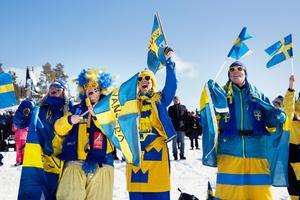 Moa Nordlund, Ulrika Hellmo, Åsa Bergqvist och Helena Bergqvist har besökt Svenska skidspelen i 20 år. De kommer heja på skidåkarna hela helgen.