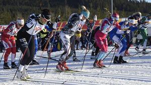 Skidintresserade kan ta tåget mellan Borlänge och Mora och titta påp Tjejvasan.Foto: Ulf Palm / TT