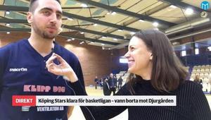 Mikael Axelsson och Köping Stars är klara för basketligan.