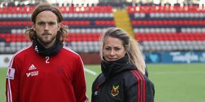 Efter tre år tillsammans i Östersunds FK kommer Tom Pettersson och Johanna Almgren lämna klubben efter säsongen. Bild: Niclas Åkerström.