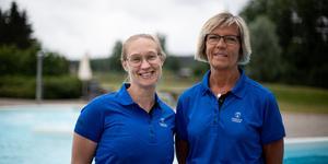 Camilla Dalbeck och Lena Lundblad välkomnar badsugna gäster i sommar.