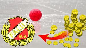 Ekonomisk framgång för Falu BS. Foto: Anders Wiklund / TT / Bilden är ett montage.