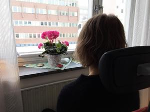 Tina vill inte framträda i bild, allt för att skydda sin son som går på Fjällbyns gymnasieskola.