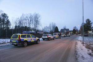 Det var ett stort polispådrag i Ytterhogdal sedan den dödade mannen hittats.