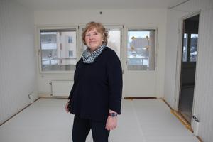 Lite mindre än hon tänkt sig. Men Anita Perstad är ändå mycket nöjd med lägenheten, förklarar hon.