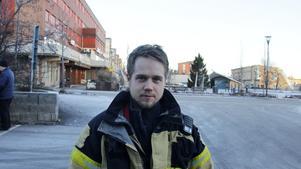 Erik Olofsson, 33 år, brandman, Härnösand.
