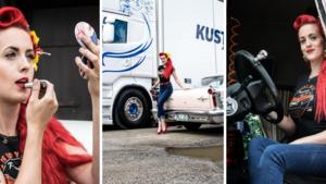 """Lastbilschauffören Katrine – sover fler nätter efter vägarna än hemma: """"Mina vardagar är aldrig sig lik"""""""