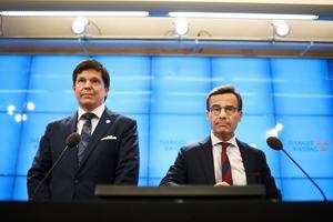 Riksdagens talman Andreas Norlén föreslog på måndagen att Moderaternas partiledare Ulf Kristersson ska prövas som statsminister. Omröstningen äger rum på onsdag. Foto: Pontus Lundahl/TT