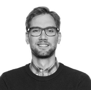 Martin Björk är byggprojektledare för ombyggnaden utanför Bergslagssjukhuset. Foto: Region Västmanland