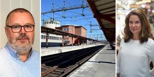 Både Trafikverket och SJ försöker nu lösa situationen för de strandade tågresenärerna som snart varit fast på tågstationerna i Ånge och Bräcke i 12 timmar. Bilden är ett montage. Foto: Hanna Wallén och Anna Alverhag.
