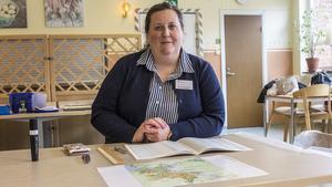 Lena Bylund, ordförande i valdistrikt centrum, berättar att hon tyckte det var fler som dök upp för att rösta i år än vid förra EU-valet.
