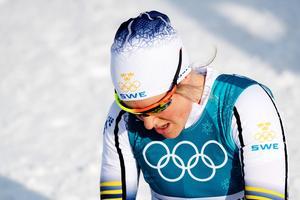 Hanna Falk lämnar OS i besvikelse. Foto: Jon Olav Nesvold (Bildbyrån).