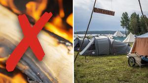 De strikta eldningsreglerna har påverkat scoutlägret vid Malungen.