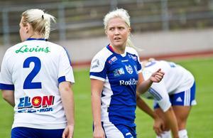 Julia Nilsson har under sina många säsonger i Forsby FF alltid varit en pålitlig målskytt. Foto: David Eriksson/arkiv