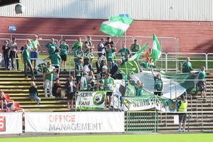 Serik Fans ramade in matchen bra.