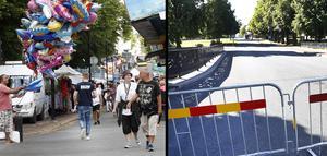 På måndag morgon stängs trafiken av på bland annat  Södra Kungsgatan. Då börjar förberedelserna inför stadsfesten som pågår från onsdag till och med lördag.