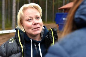 Maria Gustafsson är sportchef för IFK Mora idrottsallians och har haft hand om bygget.