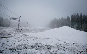 De snöhögar som finns i Fjällberget lades för drygt två veckor sedan. Foto: Josefin Pikkarainen/DT