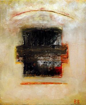 Abstrakt form av Barbro Bäck.