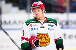 171025 Moras Viktor Amnér deppar under ishockeymatchen i SHL mellan Skellefteå och Mora den 25 oktober 2017 i Skellefteå.Foto: Simon Eliasson/Bildbyrån