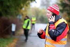 Patrulledare Johnny Birgersson såg till att gruppen frivilliga från Missing People hamnade på rätt plats i sökandet efter 70-årige Kent från Grycksbo.
