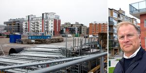 Olof Nyberg, vd för Norra kajen exploatering, förhandlar om de tre tomter på Norra kajen med ett bostadsbolag som vill bygga 200 nya bostadsrätter i området.