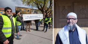 För ett par veckor sedan genomfördes en demonstration till stöd för imamen Abo Raad (till höger) i Gävle.