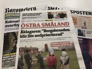 Gota Media lägger ner tidningarna Östra Småland och Nyheterna. Foto: Marko Säävälä  / TT.