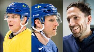 Erik Gustafsson, Staffan Kronwall och Joel Lundqvist blir Tre Kronors kaptener. Foto: Bildbyrån (Montage).