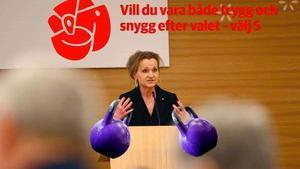 Bilden är LT:s illustration utifrån de läckta uppgifterna om Socialdemokraternas valkampanj.