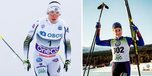 Charlotte Kalla och Ebba Andersson. Foto: Tore Meek/TT och Ulf Palm/TT