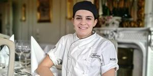 Lara Katchinskaia har chansen att bli Årets unga kock 2020 i Sverige. Foto: Rickard Westerbergh